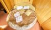 Спальня в каюте люкс теплохода Кулибин